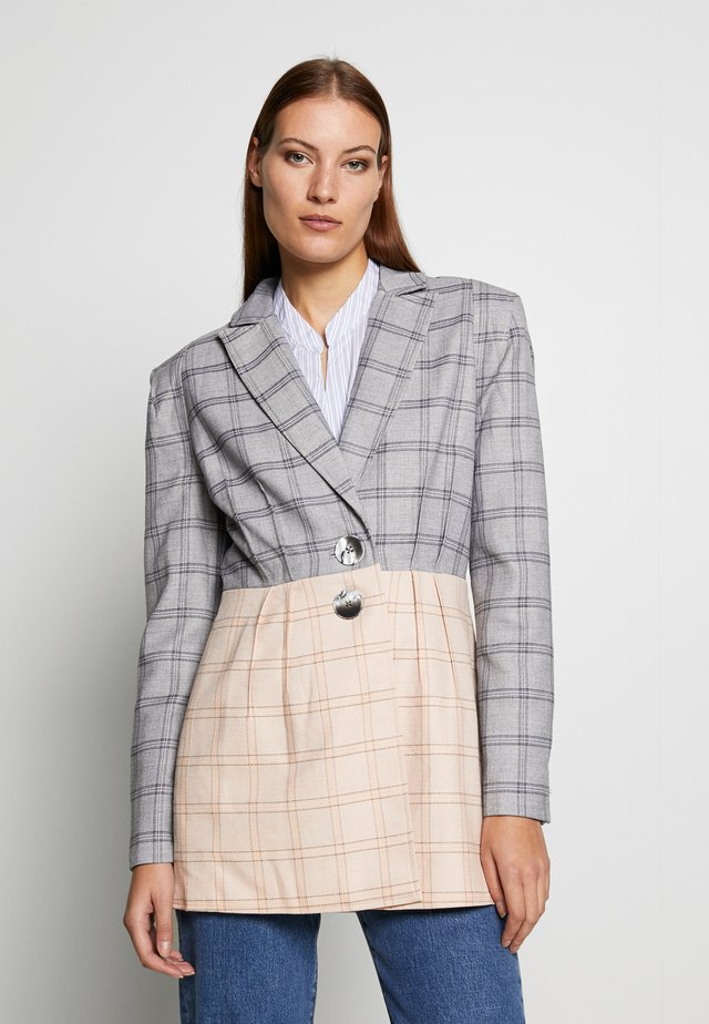 LIGHT ON - Blazer - grey/cream