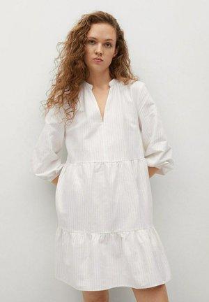 Korte jurk - złamana biel