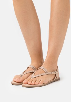 Flip Flops - rose gold coloured