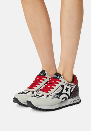 Sneakers laag - white/red