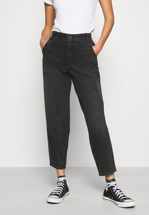 ONLTROY LIFE CARROT - Relaxed fit jeans - black denim