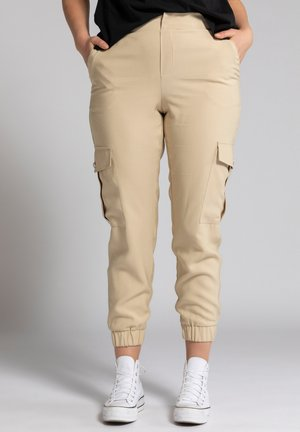 Cargo trousers - sand-beige