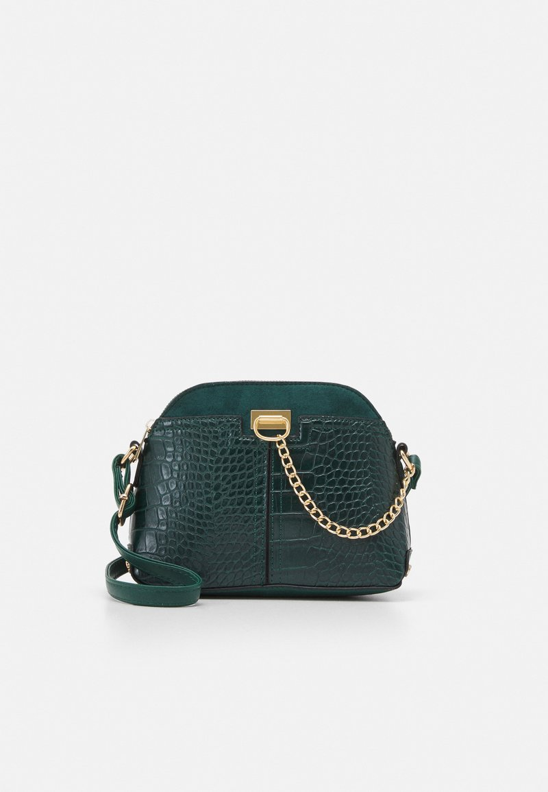 New Look - KIERAN LIZARD MINI KETTLE - Across body bag - dark green