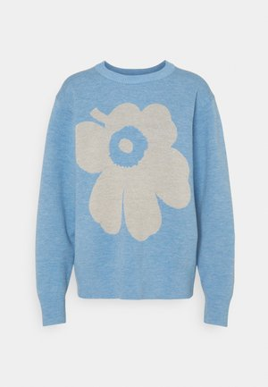 AKSIOOMA UNIKKO - Jumper - light blue/ beige