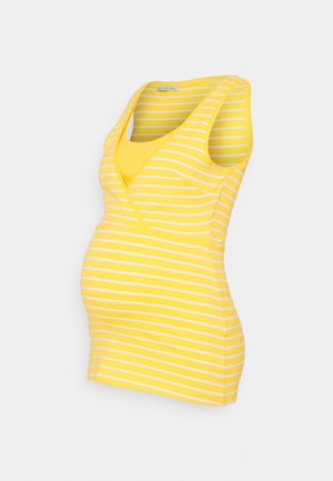 NURSING - Top - Topper - yellow/white