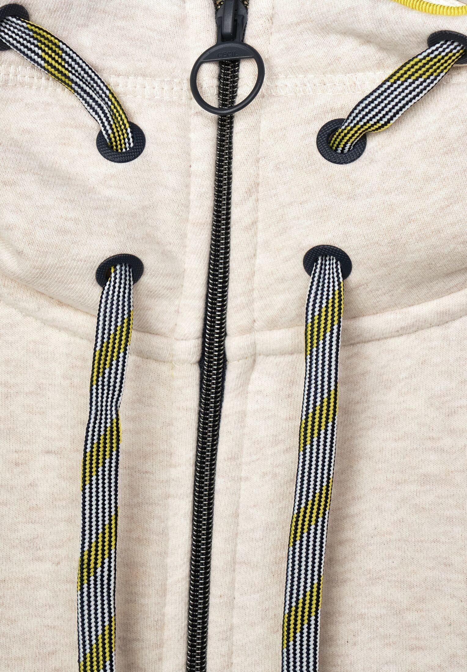 Cecil Sweatjacke mit Muster-Kragen Artikel-Nr B253020 Damen Sweatjacke Neu