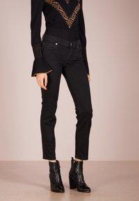 7 for all mankind - ROXANNE - Slim fit jeans - bair rinsed black - 0