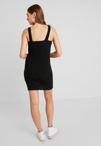 New Look - BUCKLE MINI DRESS - Vestido de tubo - black - 2