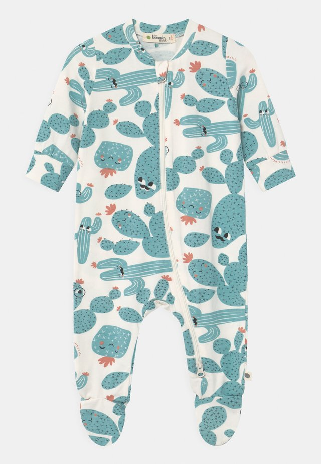 RELAX PRINTED ZIP FRONT UNISEX - Sleep suit - white/green