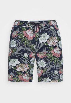 FLORAL CHAMBRAY  - Shorts - dunkelblau