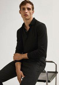 Massimo Dutti - Polo shirt - black - 4