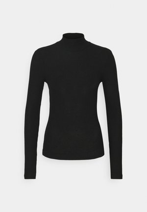 VMEFFIE HIGHNECK - Long sleeved top - black