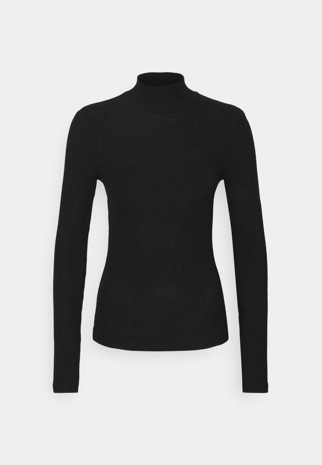 VMEFFIE HIGHNECK - Long sleeved top - black