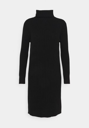 TURTLENECK DRESS - Jumper dress - black