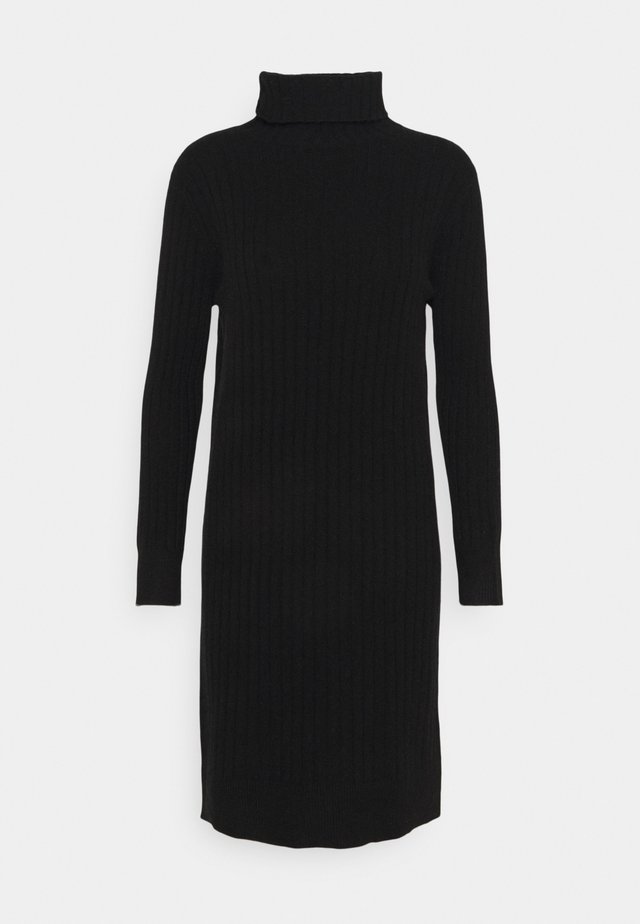 TURTLENECK DRESS - Abito in maglia - black