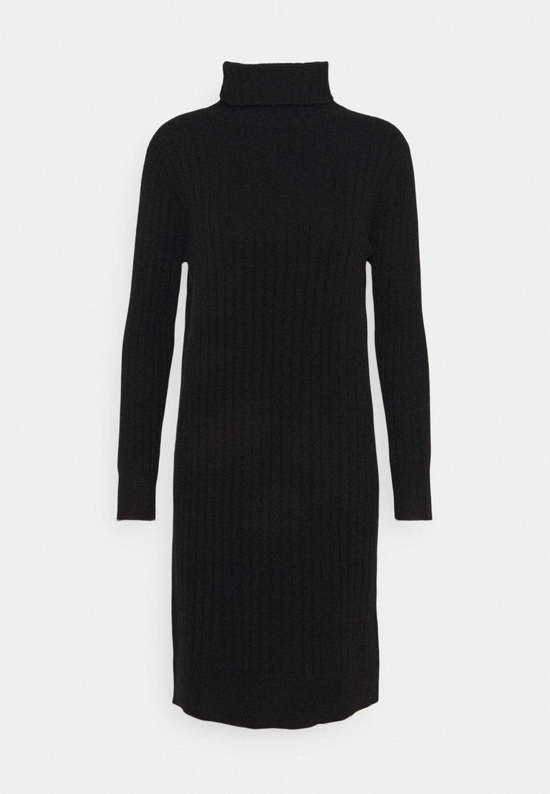 pure cashmere - TURTLENECK DRESS - Jumper dress - black