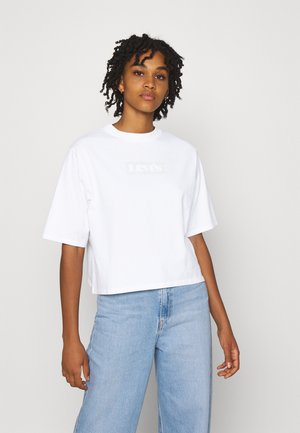 SHORT SLEEVE MOCKNECK - T-shirt imprimé - white