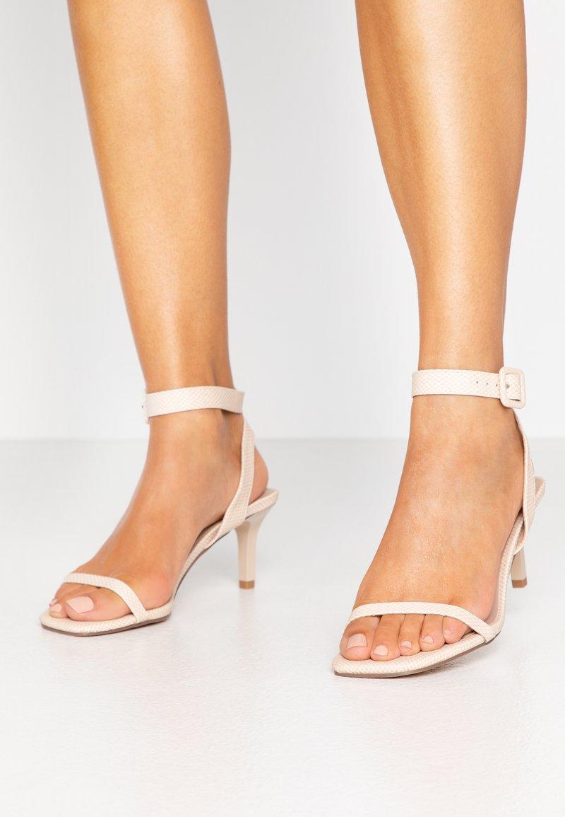 Miss Selfridge - SHAKIRA LOW STILETTO - Sandals - nude