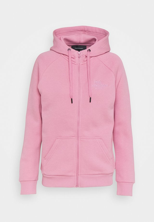 ORIGINAL ZIP HOOD - Zip-up hoodie - frosty rose