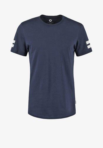 JCOBORO CREW NECK SLIM FIT  - Print T-shirt - navy blazer