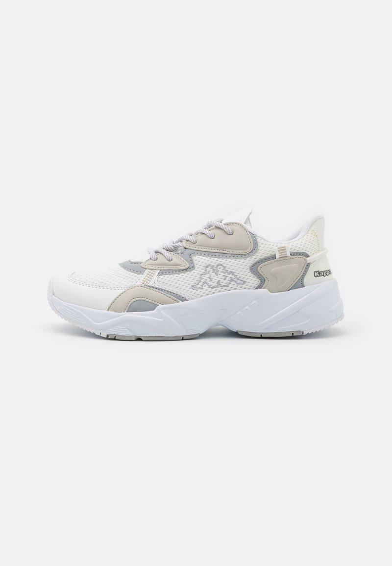 Kappa - CRUMPTON UNISEX - Sports shoes - white/l'grey
