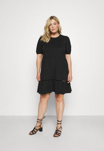 VMOILA ABOVE KNEE DRESS - Jersey dress - black