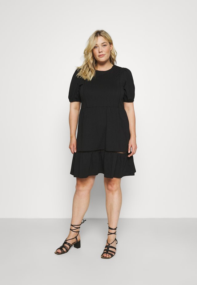 VMOILA ABOVE KNEE DRESS - Jerseyjurk - black
