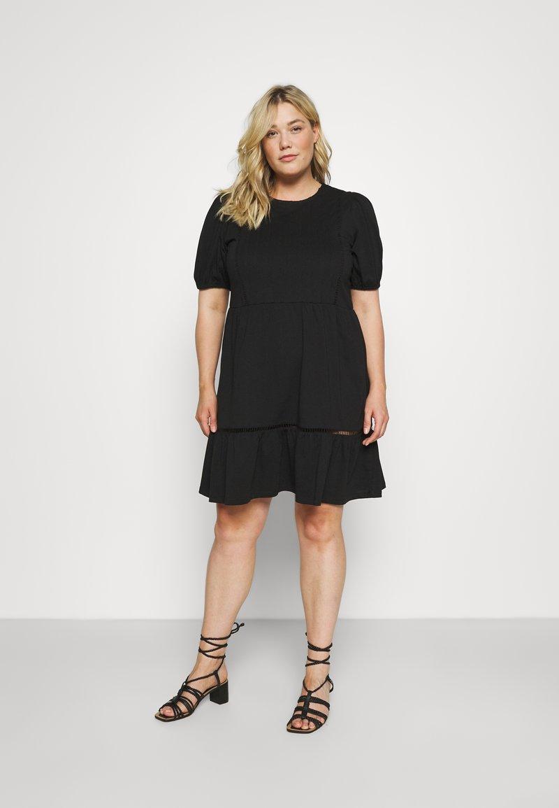 Vero Moda Curve - VMOILA ABOVE KNEE DRESS - Žerzejové šaty - black