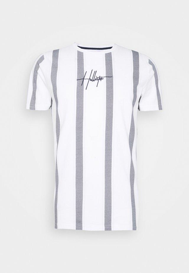 SCRIPT LOGO  - T-shirts print - white stripe