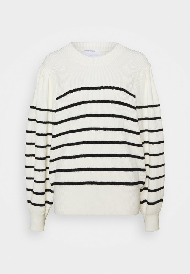 MANDY - Strickpullover - cream/ black