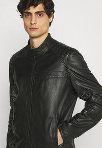 Strellson - DRIVER - Leather jacket - black - 3