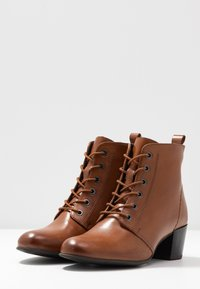Anna Field Wide Fit - LEATHER BOOTIES  - Ankelboots - cognac - 4