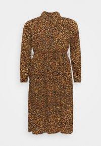 Missguided Plus - PLEATED DRESS - Shirt dress - mustard - 0
