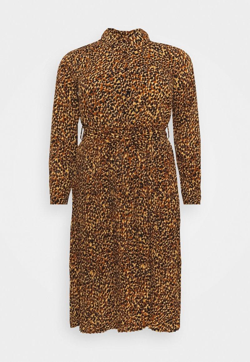 Missguided Plus - PLEATED DRESS - Shirt dress - mustard