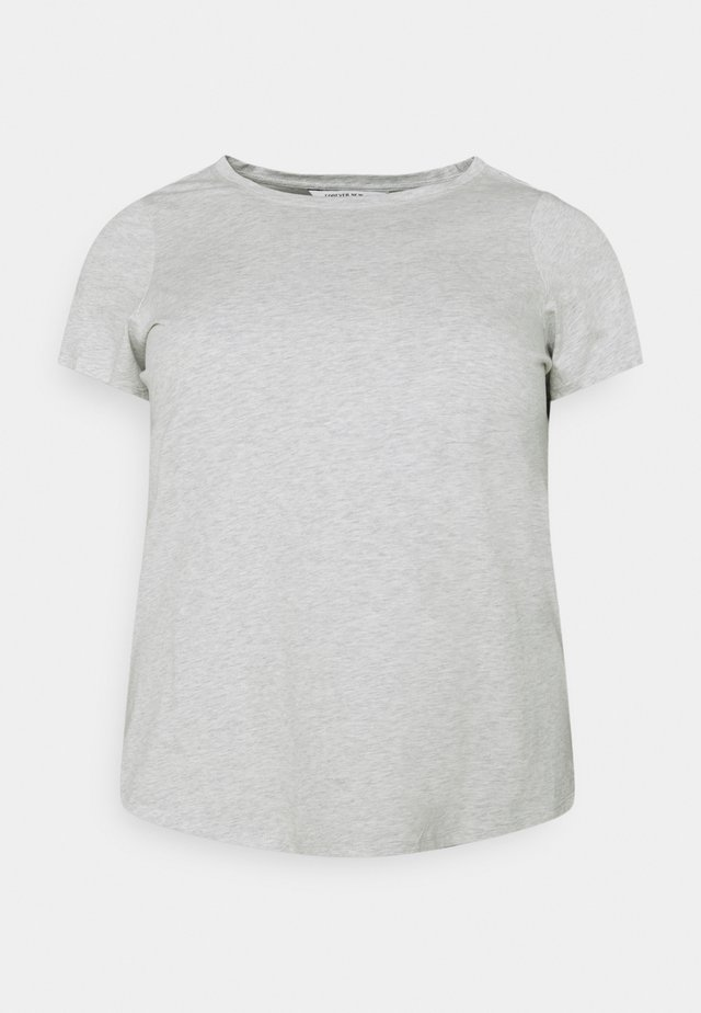 BASIC CREW NECK TEE - T-paita - grey marle