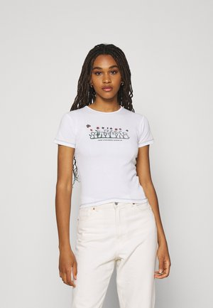 NATURE RULES EVERYTHING BABY TEE - Print T-shirt - white
