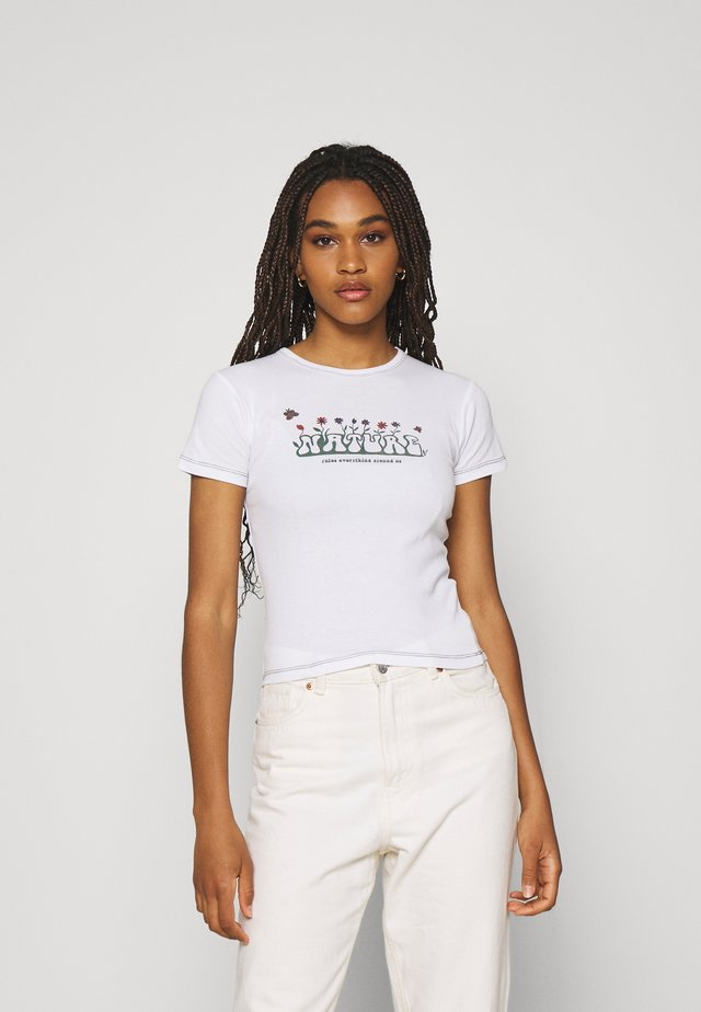 NATURE RULES EVERYTHING BABY TEE - T-shirt imprimé - white