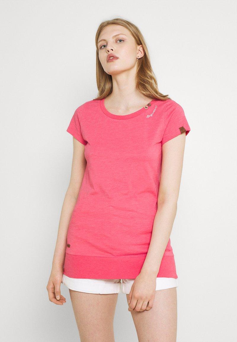 Ragwear - LESLY - Jednoduché triko - pink