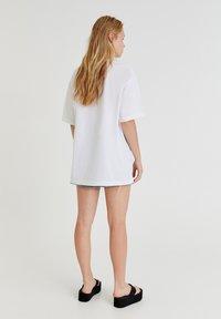 PULL&BEAR - Print T-shirt - white - 6