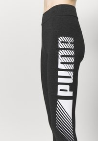Puma - GRAPHIC LEGGINGS - Collant - dark gray heather - 4