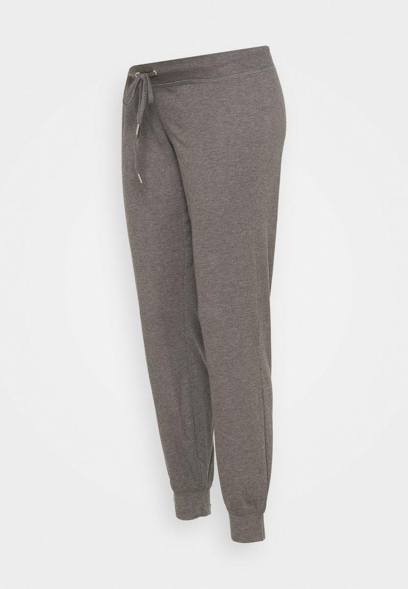 MAMALICIOUS - MLKEHLA PANT - Tracksuit bottoms - medium grey melange