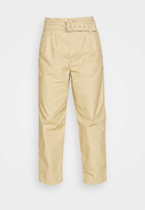 TAILOR HIGH LOOSE TAPER - Trousers - beige
