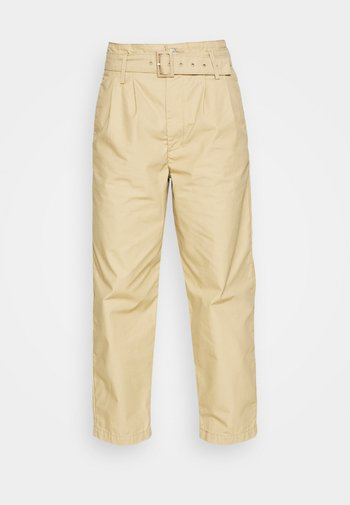 TAILOR HIGH LOOSE TAPER - Pantalones - beige