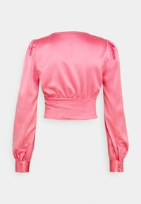Glamorous - LACE UP FRONT BLOUSE - Bluser - candy pink - 1