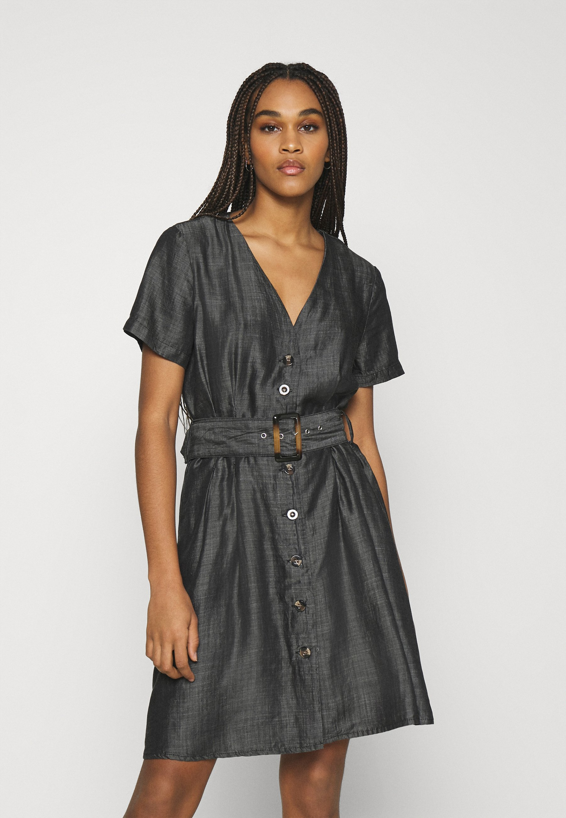 Women ONLMARY BUCKLE BELT DRESS - Denim dress