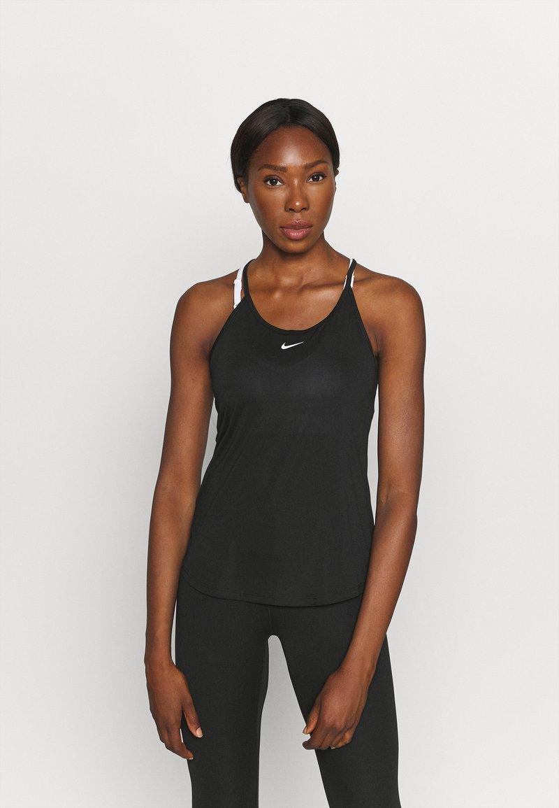 Nike Performance - ONE TANK - Top - black/white