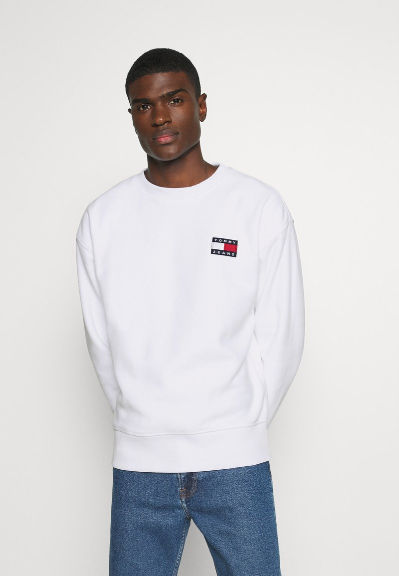 Tommy Jeans - BADGE CREW - Sweat polaire - white