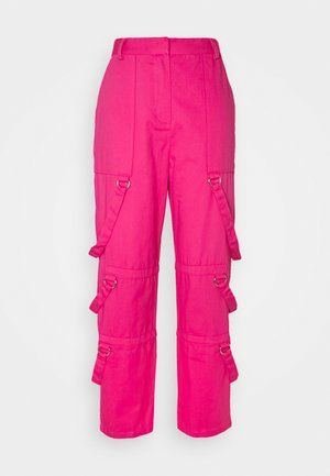 PANT D-RING STRAP DETAILS - Trousers - pink