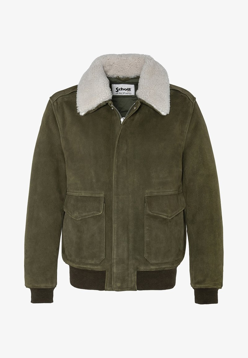 Schott - AVIATEUR  - Leather jacket - kaki