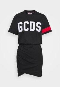 GCDS - WRAPPED DRESS - Day dress - black - 4